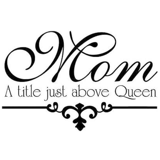 CaCar Mutter Ein Titel Nur Über Königin Wandaufkleber Kopfteil Dekorative  Art Worte Blumenmuster Selbstklebendes Vinyl Aufkleber