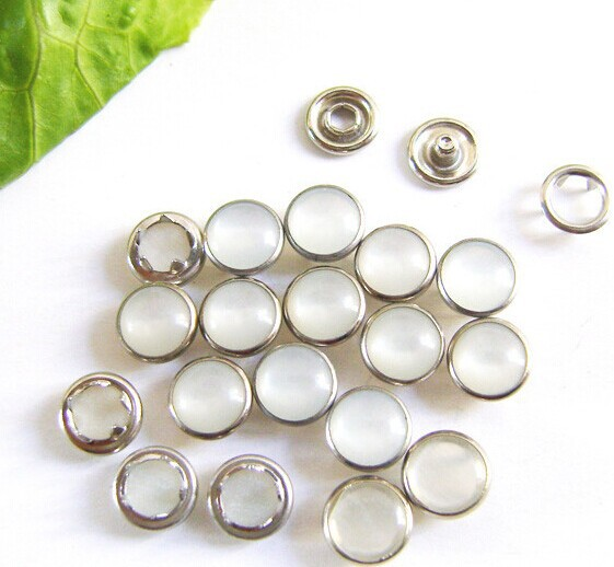 Decorative <font><b>Buttons</b></font> Scrapbook <font><b>12</b></font> <font><b>MM</b></font> High Quality Colorful Pearl <font><b>Button</b></font> Side Shirt Metal Buckle With Five Claws 300pcs image