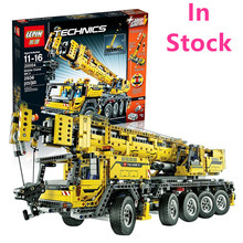 LEPIN  technology 2606Pcs Creator figures Motor Power Mobile Crane Mk II Model Building Kits  Blocks Bricks Toy Gift 42009