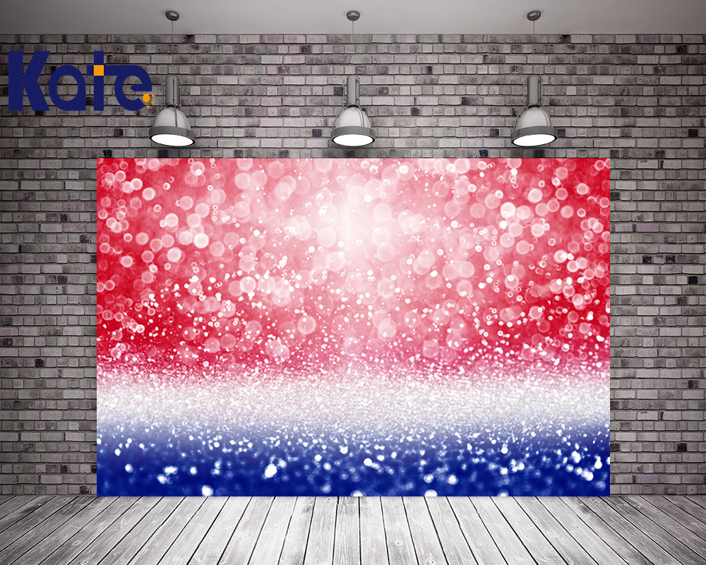 KATE 5x7ft American Independence Day Photo Bokeh Red And Blue Backderop Shimmer And Shine Party Twinkle Stars Party Backdrops