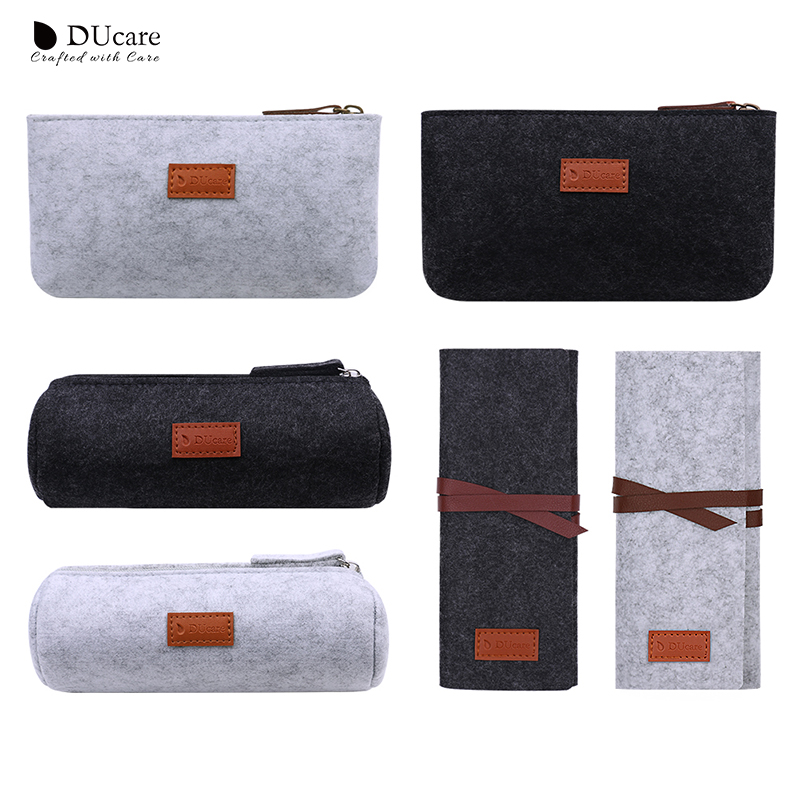 7810224dcfc3 US $2.25 50% OFF DUcare Makeup Brush Case Cosmetic Bag Travel Pouch  Portable Beauty Case Makeup Organizer Brushes Cylinder Beauty Tools-in Eye  Shadow ...