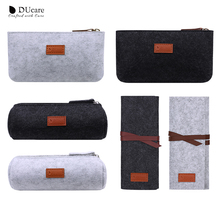 DUcare Makeup Brush Case Cosmetic Bag Travel Pouch Portable
