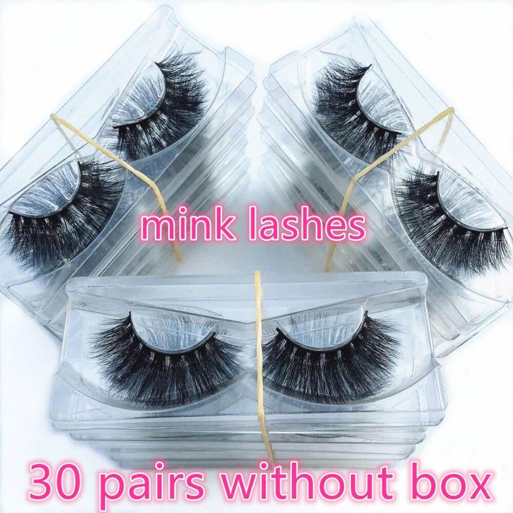 Serendi Wimpers 30 pairs Mink wimpers 3D valse wimpers groothandel dagelijks herbruikbare mink wimpers nieuwe handgemaakte cilios-in Nepwimpers van Schoonheid op  Groep 1