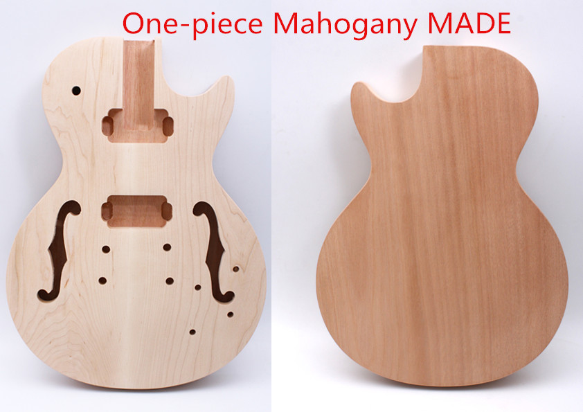 unfinished f hole Guitar Body Unfinished One-piece Mahogany DIY Electric Guitar YINFENTE купить