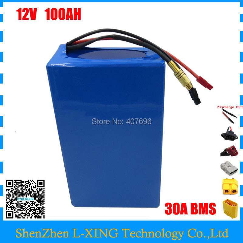 High quality 350W 12V 100AH battery 12 V 100AH Lithium ion battery for 12V 3S Li ion Battery with 5A charger EU US no tax аккумулятор для фонарика gaotan12v lithium ion battery 12v100ah 12v 100ah