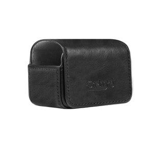 Image 3 - Caso portátil saco de couro adsorção magnética caso saco de armazenamento para dji osmo ação acessórios da câmera do esporte