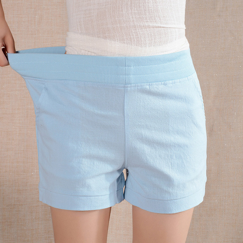 2016 Women Shorts Solid Short Femme Pocket Linen Summer Shorts Casual Loose High Waist Shorts Plus Size S-4XL A315