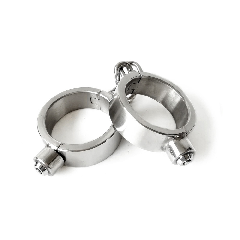304 stainless steel metal handcuff legcuffs sex toys for men women bdsm bondage Sex games With lock bdsm sex Black emperor in Bondage Gear from Beauty Health
