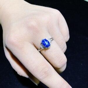 Image 3 - Starlight Sapphire Ring, Classic 925 Puur Zilveren Ster Lijn Mooie Mail Verpakking