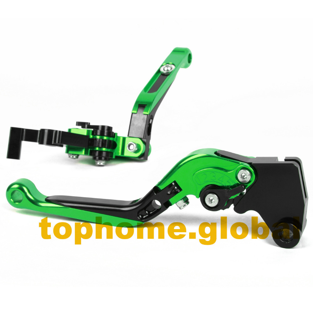 For Kawasaki Ninja650 ER-6N/F 2009 - 2016 CNC Foldable Extendable Brake Clutch Levers Green/Black 2010 2011 2012 2013 2014 2015 свитшот print bar keep calm and stab templars