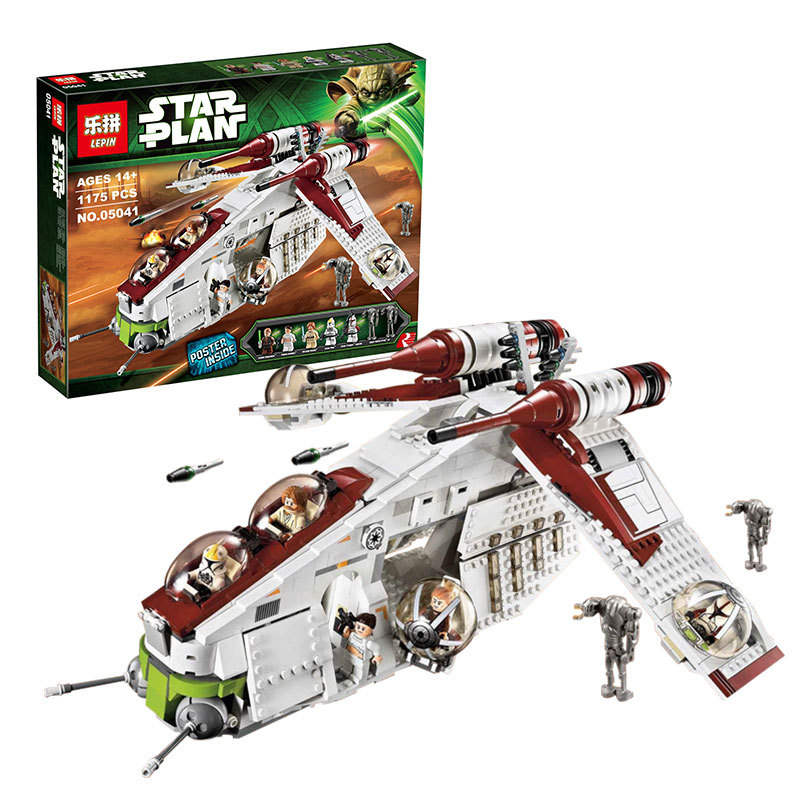 2016 New LEPIN 05041 1175Pcs Stars Wars Republic Gunship Model Building Kits Blocks Bricks Compatible Toys