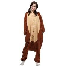 Nuevo modelo de cosplay animal de la historieta del mono ropa de dormir polar fleece anime onesies pijamas adultos unisex de manga larga homewear