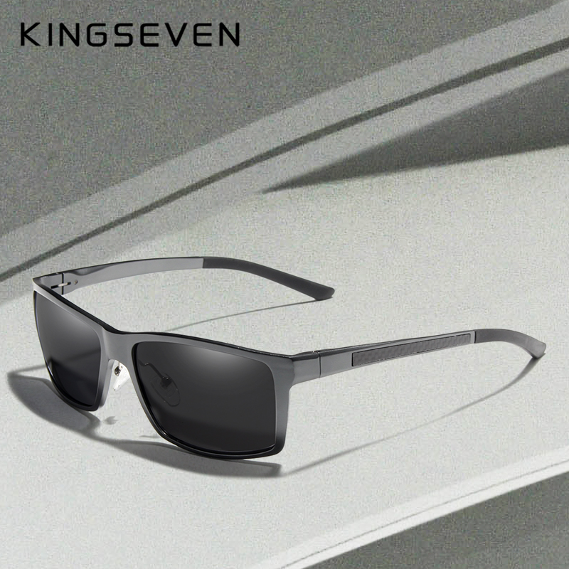 KINGSEVEN New Design Aluminum Magnesium Sunglasses Men Polarized Square Driving Sun Glasses Male Eyewear Accessories For Men 1