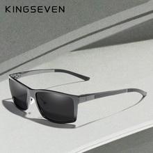 KINGSEVEN Nuovo Design In Alluminio Magnesio Occhiali Da Sole Polarizzati Degli Uomini di Piazza di Guida Occhiali Da Sole Maschili Occhiali Occhiali Accessori Per Gli Uomini