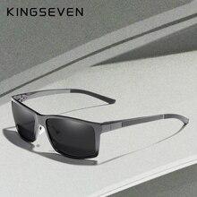 Kingseven 새로운 디자인 알루미늄 마그네슘 선글라스 남자 편광 된 광장 운전 태양 안경 남성 안경 액세서리 남자에 대 한