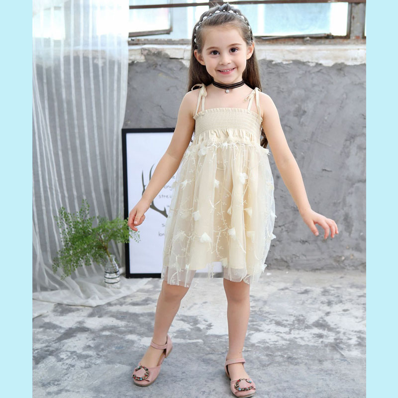 2019 High Quality Children Clothes Summer Baby Girl Dress Floral Sling Dress Embroidery Floral Cotton Princess Dress Girl Regular Tea Drinking Improves Your Health Dresses
