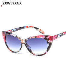 2018 New Retro Sexy Cateye Sunglasses Women Brand Designer Vintage Cateyes Sun g