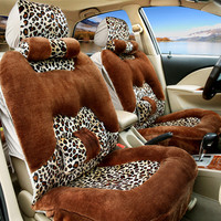 10pcs/set Winter Seat Covers Universal Car Fur Cloaks Fur Capes On The Car Seat For land kia ford toyota Cushion Cover