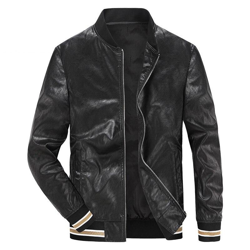 Nouveauté printemps automne AFS JEEP hommes veste en cuir marque faux cuir veste hommes décontractée vintage baseball veste manteau mâle