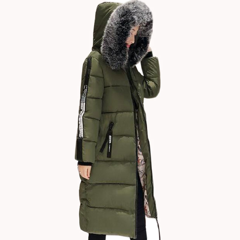 Women winter parka jacket long thicker cotton padded coat plus size 6XL warm parka fashion hooded  big fur collar outerwear hot sale men winter long cotton coat fashion plus cashmere thicker hooded parka high quality keep warm men jacket large size 2xl