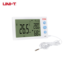 Cheapest prices UNI-T A12T Digital LCD Thermometer Hygrometer Temperature Humidity Meter Weather Station Indoor Outdoor Tester Alarm Clock