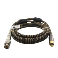 Quality BNC Video Cable 75-5 BNC to RCA Coaxial Shielded Camera Recorder Monitor Cable OFC Braided 1M 2M 3M 5M 8M
