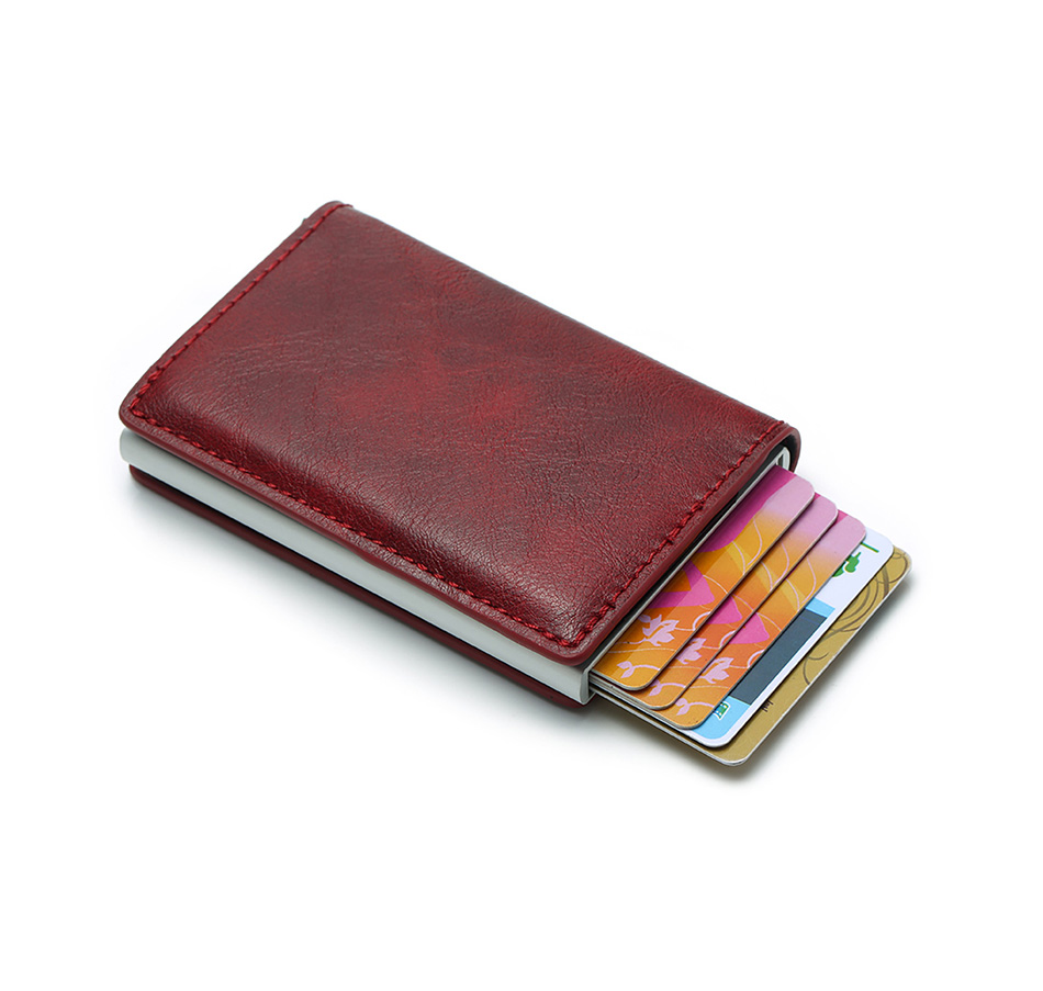 Mens Small Slim Leather Wallets Rfid Card Holder 46
