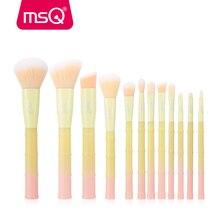 MSQ 12pcs Makeup Brushes Set pincel maquiagem Powder Foundation Eyeshadow Make Up Brushes Bamboo Plastic Handle Synthetic Hair