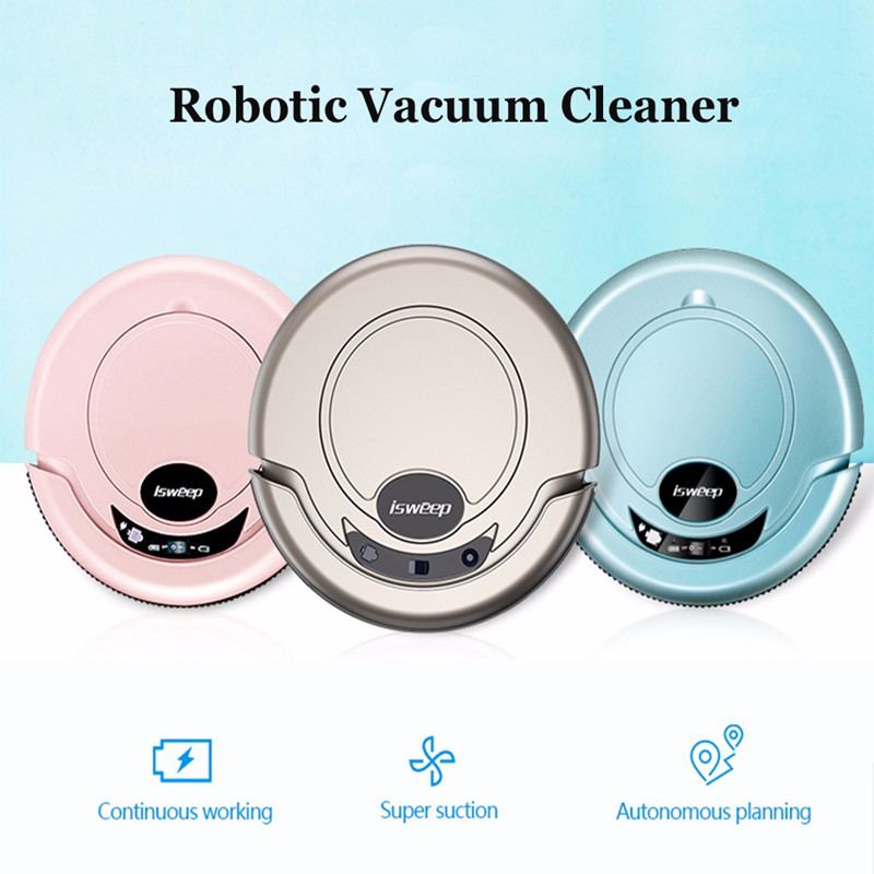 ISWEEP New Arrival S320 Smart Robot Vacuum Cleaner For Home Appliances Mopping Machine Mopping Cloth Strong Suction Random Type iPhone 8