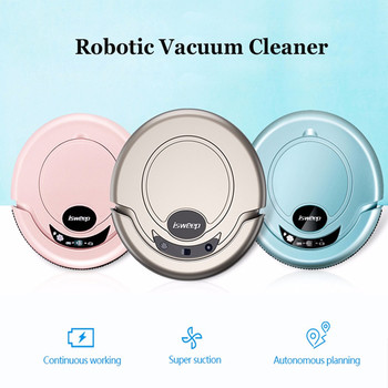 Nueva llegada de ISWEEP S320 Robot inteligente aspirador para electrodomésticos máquina de limpieza paño de limpieza fuerte succión tipo aleatorio