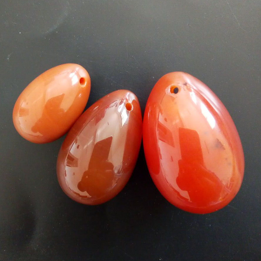 Natural carnelian Yoni Egg  3pcs/set Love Eggs for Kegel Exercise Crystal Healing Reiki for Women 3 pieces small size 30mm 20mm pink quartz kegel exercise yoni eggs for women health and muscles training