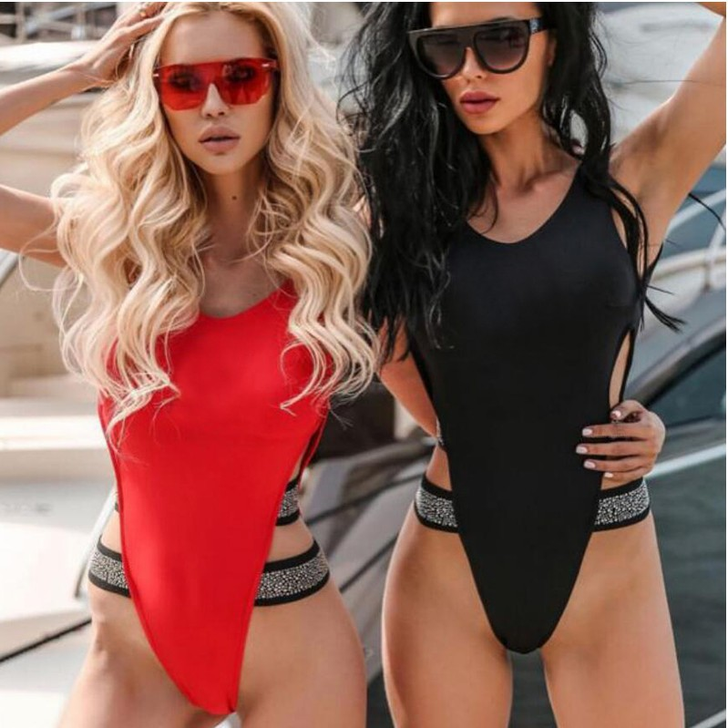 2019 Brazilian Bottoms Women Swimming Underwear One Piece Swimsuit Suit Brasil Swim Thong Trikini Bandeau Thong Bathing Suit