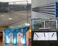 Бесплатная Доставка, свадебные Нержавеющаясталь стоять 3 м * 6 м Свадебные фон стенд с возможностью расширения Rods фон Рамки питания свадьба