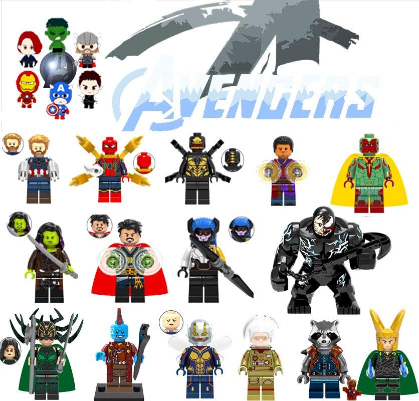 Single Sale Batman Joker Robin Logan X-Men Super Heroes Building Blocks Figures Toys Compatible With LegoINGly Superman Zk20