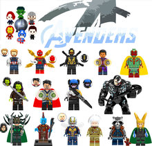 Única Venda Batman Coringa Robin Logan X-Men Superman Super Heroes Figuras Building Blocks Brinquedos Compatível Com LegoINGly zk20(China)