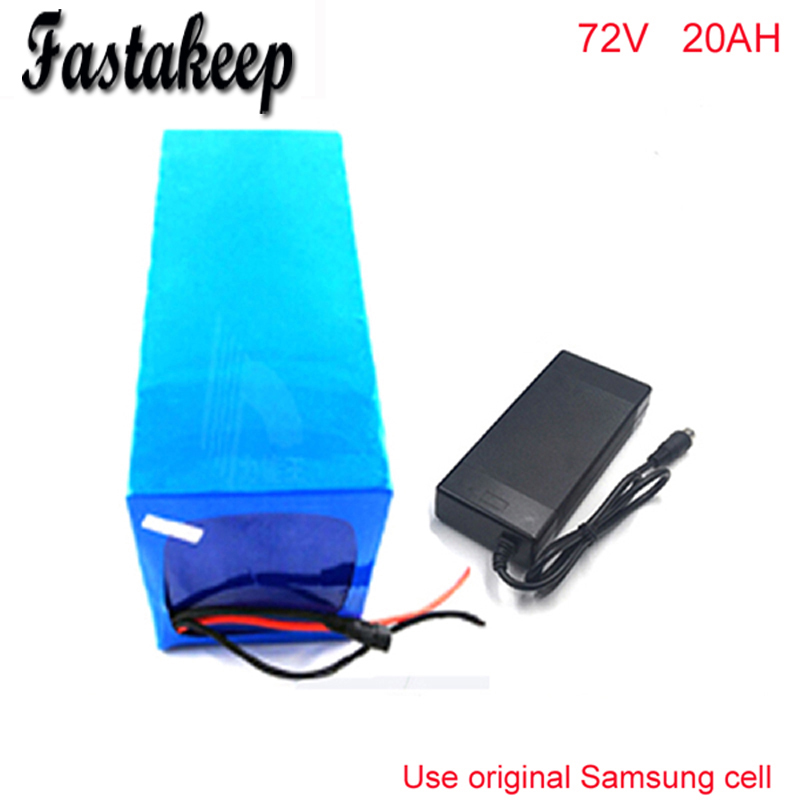 Hot sales 72V 20AH Lithium Battery ,with 2500W BMS Chargrer , RC E-bike Electric Bicycle Scooter 72V battery For Samsung cell no taxes 72v 3500w lithium ion battery electric bike battery 72v 25ah lithium ion battery pack 72v 25ah for samsung cell