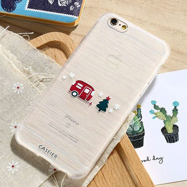 CASEIER Case For iPhone 5 5s Merry Christmas Winter Relief Capa For iPhone SE Soft TPU Coque Top Quality Fundas Capa 2017 Shell