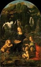 The Virgin of the Rocks by Leonardo Da Vinci Handpainted