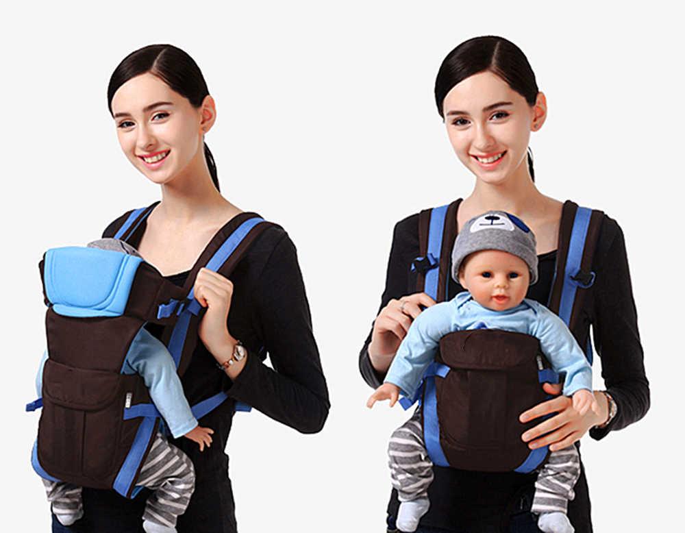 Переноска для детей от 0 до 30 месяцев, воздухопроницаемая переноска для младенцев 4 в 1, удобный рюкзак-слинг для малышей