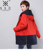 SSC Knitting Hoodies Women S Coat Loose Leisure Spring And Autumn Coat Female Plus Size 4XL