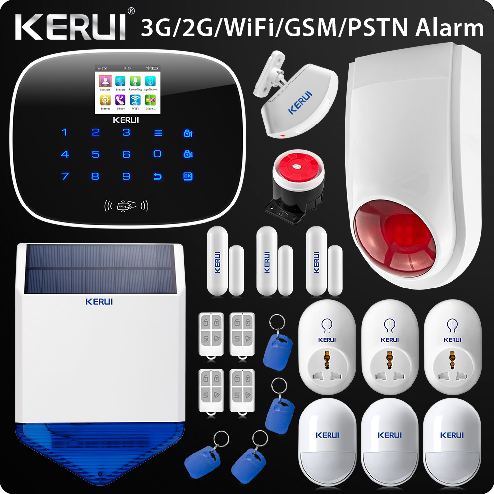 2018 Upgraded W193 3G WIFI PSTN GSM SMS Home Burglar LCD GSM SMS Touch Screen Alarm Panel Home Security Alarm System wireless gsm pstn auto dial sms phone burglar home security alarm system yh 2008a