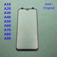 5 قطعة لمس العدسات الزجاجية الأمامية الأصلية لسامسونج غالاكسي A50 A30 A10 A20 A40 A60 A70 A80 A90 الخارجي شاشة محول الأرقام الاستشعار