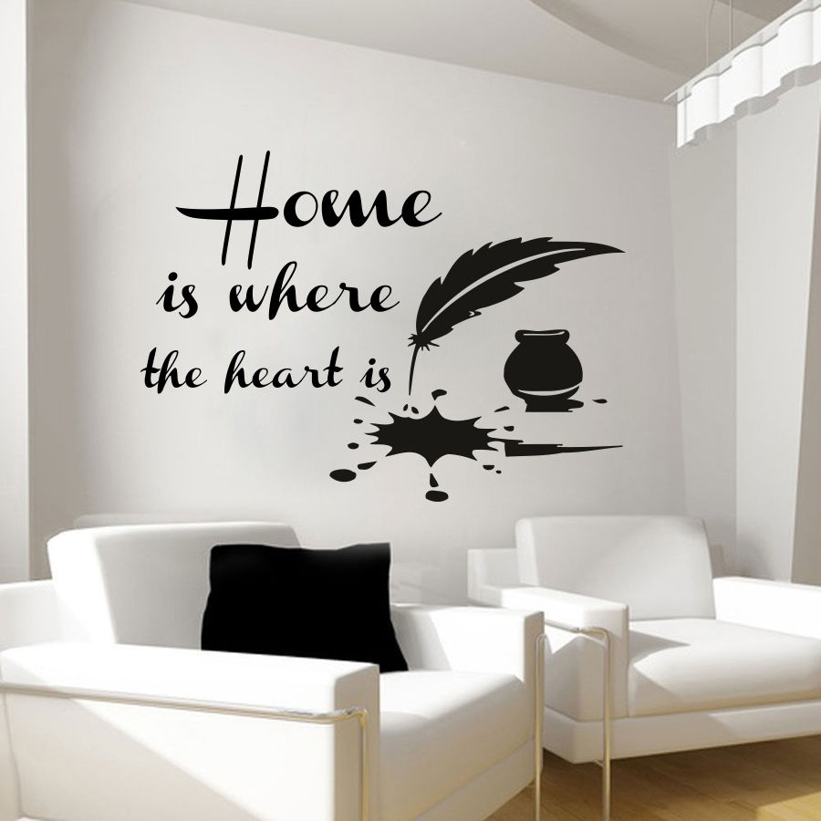 quotes wall decals home decal vinyl sticker interior. Black Bedroom Furniture Sets. Home Design Ideas