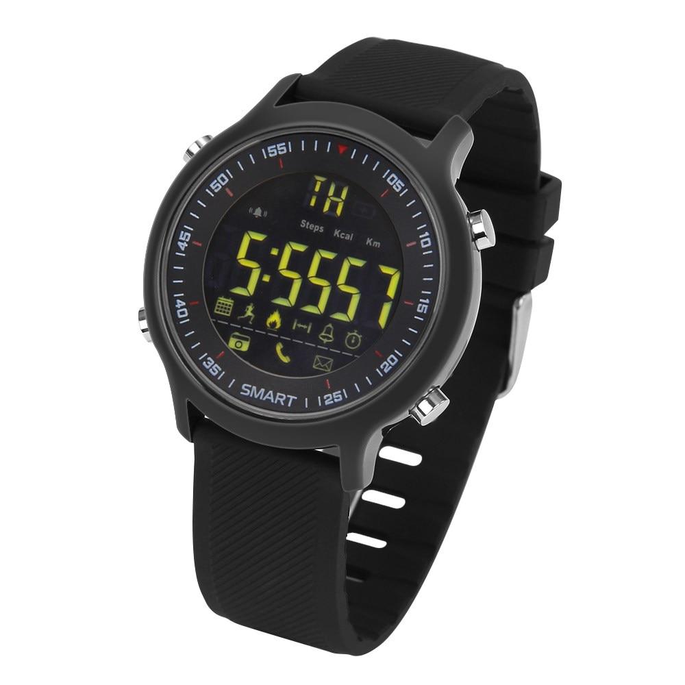 imágenes para Apoyo reloj inteligente a prueba de agua al aire libre buceo natación impermeable profesional podómetro inteligente reloj Bluetooth para ios Android