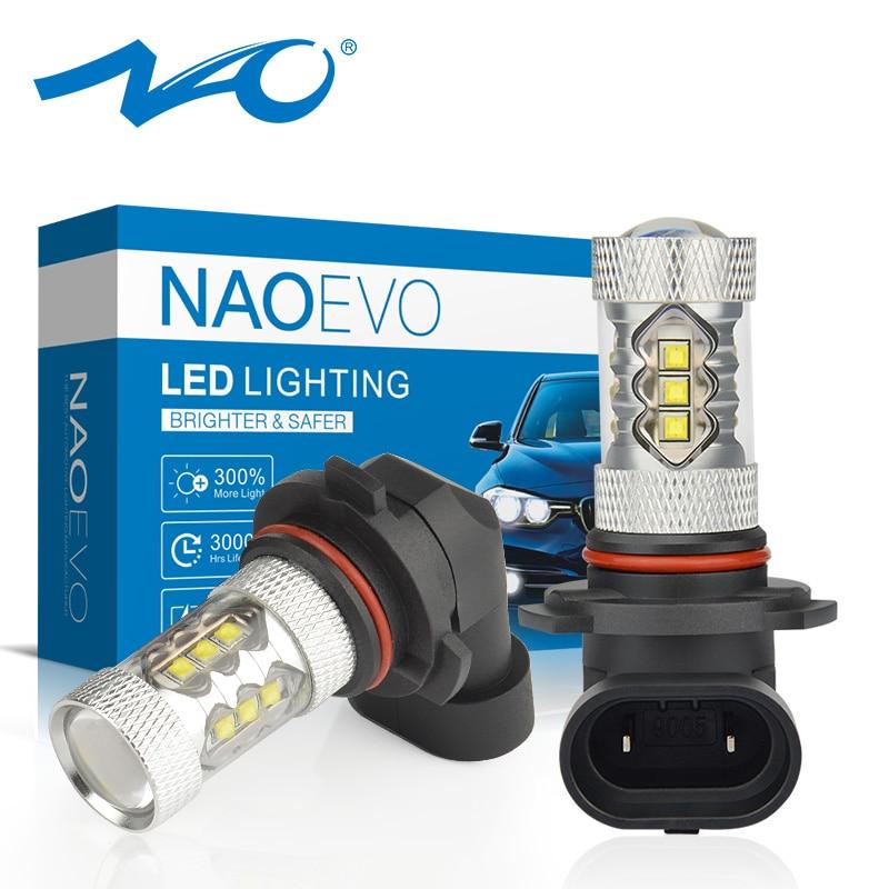 NAO Fog-Lights H10 16-Cree-Chip 9005 Auto-Bulb H11 Led White HB3 9006 H8 6000K HB4 DRL