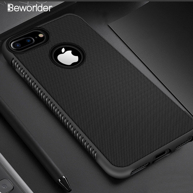 competitive price 418c3 b167d US $1.73 13% OFF|Beworlder For Apple iphone 7 Case iphone 6s Soft TPU Case  Silicone Anti Slip Phone Cover For iphone 8 Plus iphone 7 Plus Case -in ...