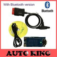 3 unids/lote + DHL LIBERA la nave! con Bluetooth nuevo vci herramienta de diagnóstico obd2 OBDII scan herramientas para coche camión escáner TCS CDP Pro Plus