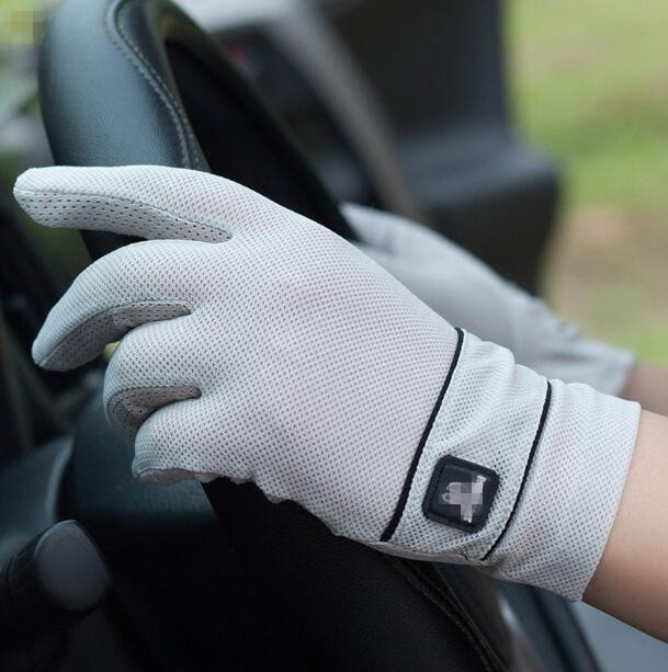 Men's spring and summer driving gloves summer sunscreen thin touch screen gloves male slip-proof sports glove R383