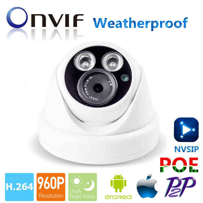 POE IP Camera 960P Security HD Network CCTV Camera Mega pixel Indoor Outdoor Network IP Camera , ONVIF H.264 Support Phone View