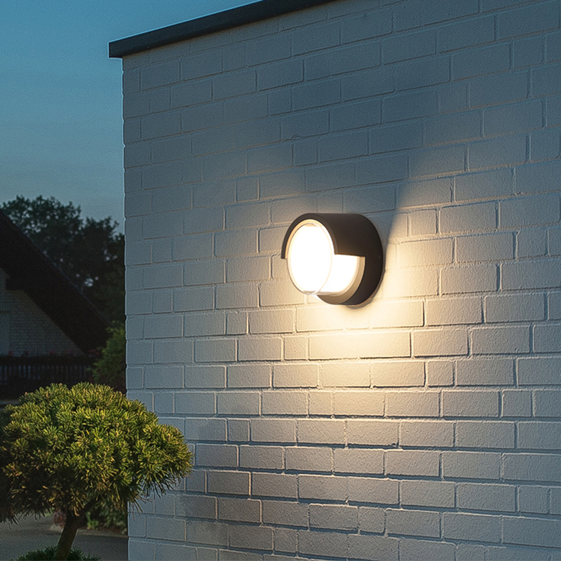10W Outdoor Lighting Waterproof Modern LED Wall Lamps Aluminum Courtyard Garden Corridor Porch Lights AC85 265V DC12V
